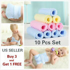 Kyпить 10 Pcs 3 Layer Prefold Reusable Eco-Cotton Cloth Baby Infant Diapers WASHABLE на еВаy.соm