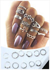 28 Styles Gold Silver Ring Set Above Knuckle stacking Band Midi Rings Boho