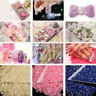 ND_ 1000Pcs 4mm Flatback Crystal AB 14 Facets Resin Round Rhinestone Beads Hot