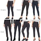 Women Ladies Work Office Pencil Trousers Smart Stretch Elasticated Pull On Pants