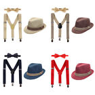 boy birthday outfits for babies - Toddler Kids Baby Boy Girl Suspenders Bow Tie Hat Outfit for Birthday Photo Prop