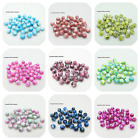 New Arrival 50pcs 8mm Multi Coloured Floral Glass Beads For Jewellery Making