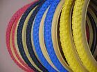 TYRES Pair 20x1.75&quot; COMP 3 Tread Style Retro Old School Comp III Amber Wall BMX <br/> 47-406 Burner 80s BMX Tires BLUE RED YELLOW BLACK