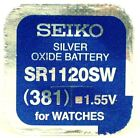 Seiko 1.55v Silver Oxide Mercury Free Watch Battery Made in Japan Various Sizes