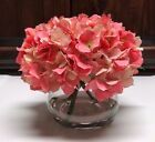 Nearly Natural PINK blooming HYDRANGEA artificial FLOWERS vase water illusion