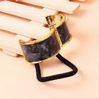 New Metal Plated Acrylic Cuff Holder Women & Ladies Ponytail Hair Band 9 Colours