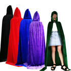 Adults Hooded Cloak Wicca Long Robe Vampire Halloween Party Witchcraft Larp Cape