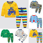 2pcs Kids Boys Casual Cute Excavator Print T-shirt Tops Trousers Pants Outfits