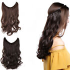 Thick Wavy Hidden Invisible Wire Headband Crown Extensions 100% Human Hair 120g