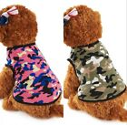 Puppy Clothes Cotton Vest Camouflage Fashion Small Dog Pet Jersey Jackets 2018