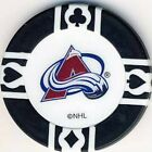 Colorado Avalanche NHL Hockey Poker Chips Card Guards Various Colours $1.0 CAD on eBay