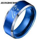Carolina Panthers Stainless Steel Ring 8mm