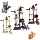 70/90/180cm Cat Tree Activity Centre Scratcher Scratching Post Toy Bed/Sisal Mat