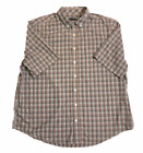 George Mens Short Sleeve Pocket Button-Up Dress Printed Shirt CHOOSE SIZE