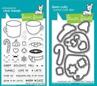 Lawn Fawn Thanks a Latte Stamps (LF1761) or Dies (LF1762)