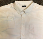 George Mens Long Sleeve Collar Button-Up Plain Twill Dress Shirt White CHOOSE