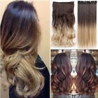 US Real Thick Clip In Hair Extensions Long New OMBRE Full He