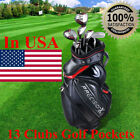 13 Clubs Golf Cart Stand Carry Bag 5 Way Divider Top Organizer Pockets Storage