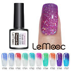 LEMOOC  Color Changing Gellack Holographisch Pailletten Thermal UV Gel