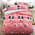 Single Queen King Bed Set Pillowcase Quilt Cover Cotton Blend LusL Dog Pink mmgf