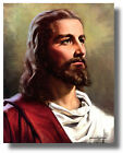 Jesus Christ Head Religous & Inspirational Wall Art Print Picture