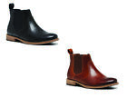 MENS HUSH PUPPIES BENFICA MEN'S BLACK LEATHER WORK SLIP ON PULL UP BOOTS $179.95