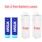 2pcs XTAR  Rechargeable Batteries 18650 3500mah w 2pcs Embedded Battery Case