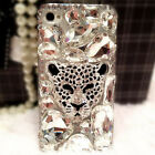 Jewelled Bling Crystal Diamonds Soft TPU Phone back Case Cover & neck strap #32