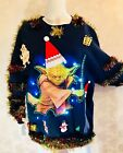 Star Wars Ugly Christmas Sweater with Lights and Trinkets with Holiday design