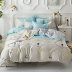 Single Queen King Bed Set Pillowcase Quilt Cover Cotton Blend lUSR Cute Dog ydl