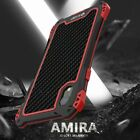 For iPhone 11 PRO XS MAX XR Waterproof Shockproof Carbon Fiber Metal Case Cover