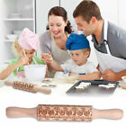 2018 New Christmas Rolling Pin Engraved Rolling Pin Embossed Rolling Pin