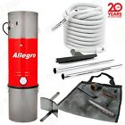 ADVANCED  Allegro Central Vacuum PACKAGE 6000sq ft 35'ON/OFF HOSE Hardwood floor