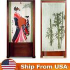 Внешний вид - Bamboo Print Door Curtain Noren Japanese Tapestry Room Divider Doorway Curtains