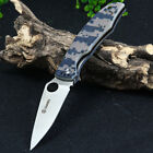 New G10 Handle Folding Knife With Liner Lock Canping Survival Outdoor Tools
