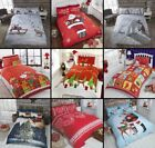 XMAS Duvet Cover With Pillowcases Quilt Cover Bedding Set Single Double King All
