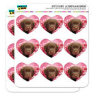 Chocolate Labrador Retriever Puppy Dog Heart Planner Scrapbook Craft Stickers