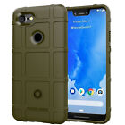 For Google Pixel 3 / 3 XL Rugged Shockproof Shield Soft Rubber Armor Case Cover