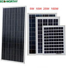 5W 10W 25W Watts Solar Panel 12V Poly Off Grid Battery Charger for RV Boat Placid