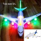 Iseful Moving Flashing Plane Light Sounds Musical Electric Airplane Airbus Toy