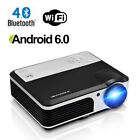 Ceiling Projection Smart Android Bluetooth Home Theater Projector USB 1080p WIFI