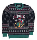 Ugly Christmas Sweater Plus Size Women's Metal Sleigher Santa Sweatshirt