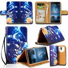 Leather Wallet Stand Flip Case Cover For Various Nokia SmartPhones +strap
