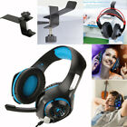 Gaming Headset Mic Stereo Surround Headphone 3.5mm For PS4 Xboxone  Holder