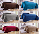 Soft Plush Reversible Corduroy/Sherpa Lined Over-sized Bed Blanket Queen & King image