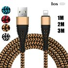 US Braided Micro USB Type-C IOS Charger Charging Fast Cable For iPhone Samsung