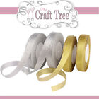 Gold / Silver Sparkle Glitter Organza Ribbon--Comes in various Width and Lengths
