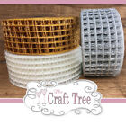 Metallic Mesh Square Ribbon--Comes in 45mm Width Great for Christmas Projects