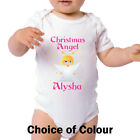 Personalised Christmas Angel Baby Bodysuit - Made to Order