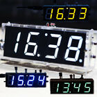 DIY Kit LED Electronic Clock Microcontroller Digital Clock Time Thermometer New